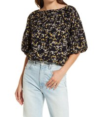 free people dessa bodysuit, size x-large in black combo at nordstrom