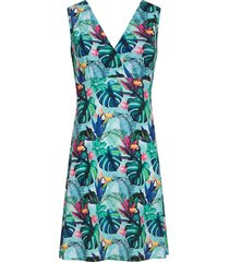smashed lemon jurk a-lijn tucan aqua blauw