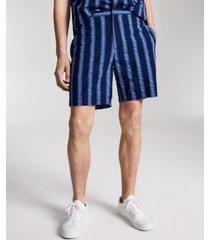 "inc men's regular-fit exploded stripe 8"" seersucker shorts, created for macy's"