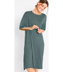 jersey jurk, halflange mouw