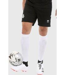 pantaloneta negro-blanco real madrid