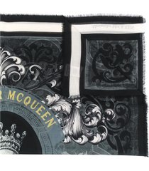 alexander mcqueen hope and promise scarf - black