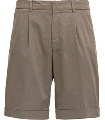 z zegna beige cotton bermuda shorts
