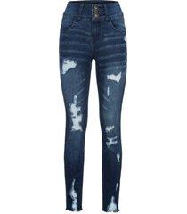 jeans a vita alta strappati (nero) - rainbow