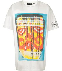 haculla grilled eaten drop shoulder t-shirt - white