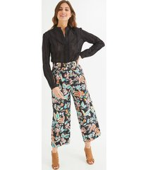 szerokie spodnie z lyocellu