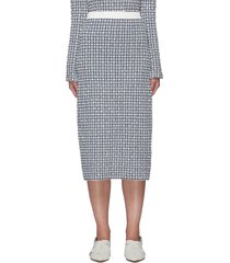 column jacquard midi skirt