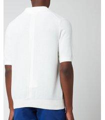 frescobol carioca men's rino cotton silk blend polo shirt - white - xl