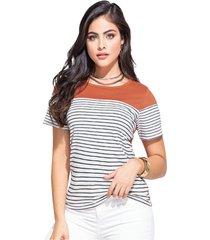 camiseta adulto femenino estampado rayas marketing  personal