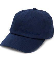 acne studios logo embroidered baseball cap - blue