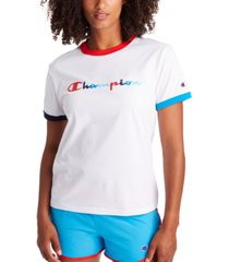 champion women's campus ringer t-shirt