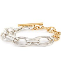 rony' silver- and gold-plated multi-link bracelet
