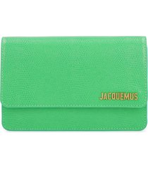 jacquemus le riviera leather crossbody bag