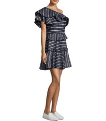 grettel one-shoulder ruffle dress
