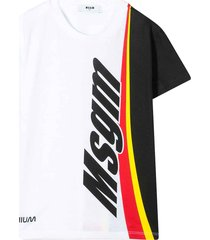 msgm white t-shirt teen