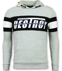 sweater enos sweater met capuchon - hoodie -