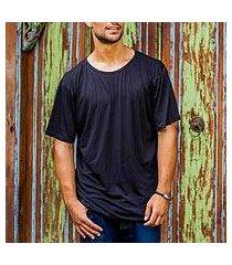 men's cotton founder's t-shirt, 'black kuta breeze' (indonesia)