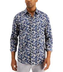 alfani men's regular-fit floral-print shirt, created for macy's