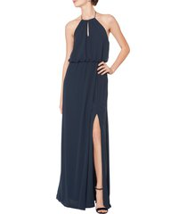 women's #levkoff blouson chiffon a-line gown