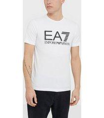 ea7 emporio armani train visibility m tee st t-shirts & linnen white