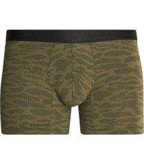 boxer medio estampado tono verde color tendencia, talla s