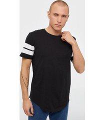 only & sons onsmatty longy ss tee t-shirts & linnen svart