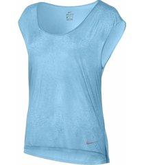 camiseta nike breathe para mujer - azul celeste