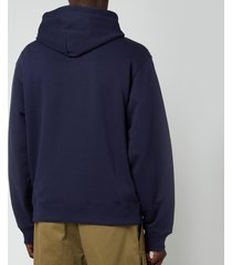 kenzo men's tiger crest classic hoodie - navy blue - xxl
