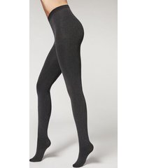 calzedonia thermal super opaque tights woman grey size 4