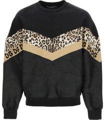 dolce & gabbana multi pattern sweatshirt