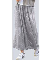 rok alba moda grijs::zilverkleur