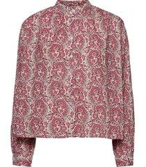 aline shirt overhemd met lange mouwen rood nué notes