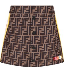 fendi brown skirt for girl with double ff
