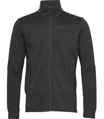 falketind warm1 stretch jacket m's sweat-shirt trui zwart norrøna