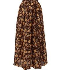 high-rise floral print maxi skirt