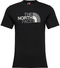 m s/s easy tee t-shirts short-sleeved svart the north face