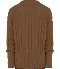 family first milano sweater braided brown