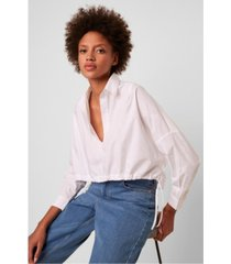 french connection long sleeve rhodes poplin top