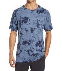 zella tie dye men's seamless t-shirt, size x-large in navy halite at nordstrom