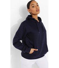 basic overhead hoodie, navy