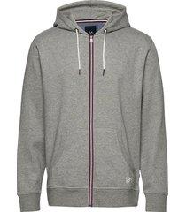 signature hood cardigan hoodie trui grijs lindbergh