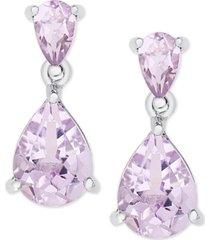 amethyst double drop earrings (2-1/4 ct. t.w.) in sterling silver