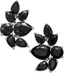 black sapphire fancy stud earrings (10 ct. t.w.) in sterling silver