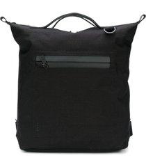 ally capellino top handle zip pocket backpack - black