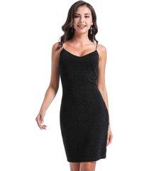 vestido fiesta lurex negro nicopoly
