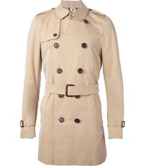 burberry the kensington - mid-lenght trench coat - neutrals