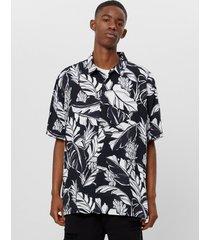 blouse met tropical print