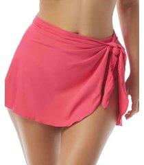 coco reef contours halo sarong swim skirt women's swimsuit