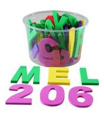 alfabeto móvel eva 46 peças - carlu - brinquedo educativo