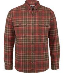 wolverine glacier heavyweight long sleeve flannel shirt gravel plaid, size xxl